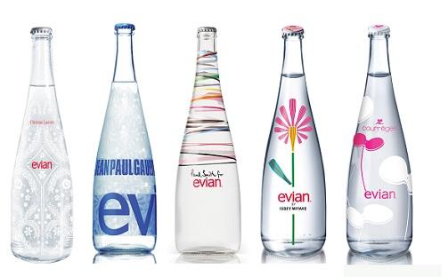 evian bottles