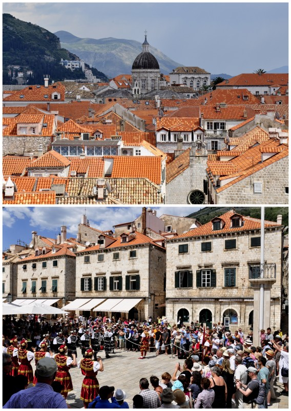 red brick roofs of dubrovnik