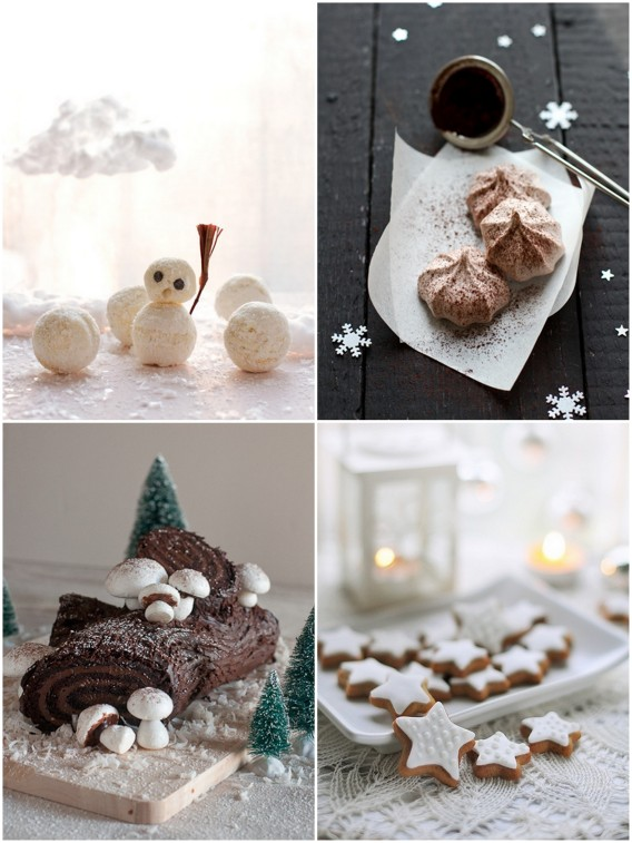 christmas cookies, almond stars, meringue