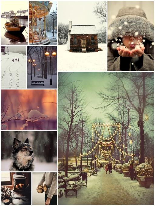 white winter, winter wonderland, mood board
