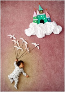 creative mum, sleeping baby