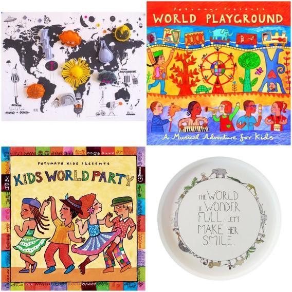 putumayo, around the world, world map, music around the world, kids world party