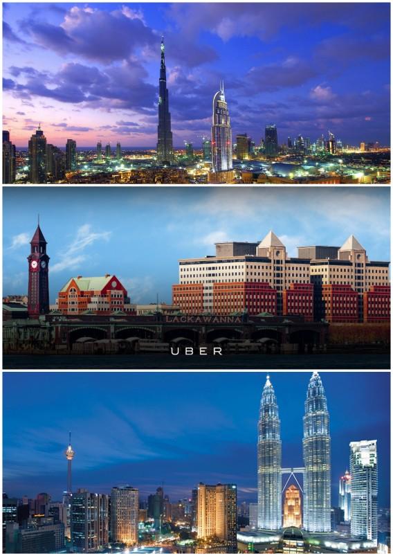 cities around the world with uber