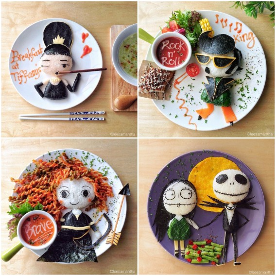 creative mum makes art food
