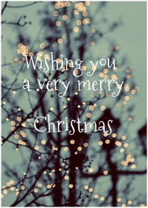 wish you a very merry christmas greeting