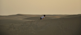 boy on a dune