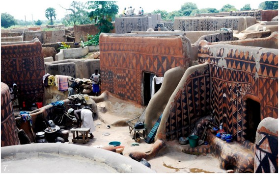 painted houses of tiebele, west africa
