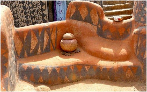 painted houses of tiebele, burkina faso