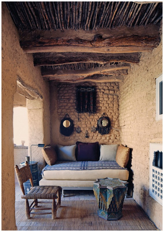 terrace at Le Bastion house in Taroudant Morocco