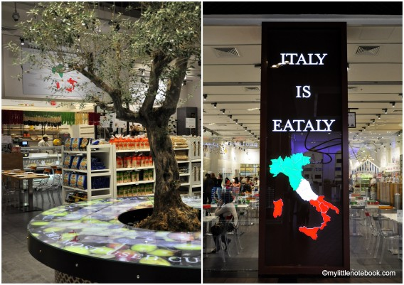 Italy is Eataly, italian restaurant in Dubai