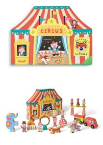Circus story box for storytelling