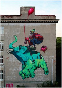 lodz in poland - street art