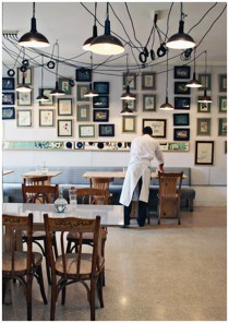 Cool interior of Tawlet in Mar Mikhael, Beirut