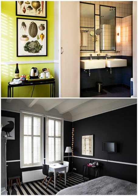 Beautifully decorated room in hotel Villa Augustus in Dordrecht