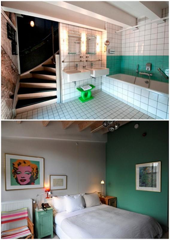 Green color in the hotel Villa Augustus in Dordrecht