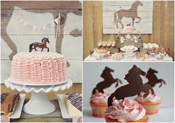 Horse party ideas for the food and cake