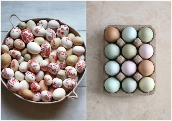 pastel hues for easter eggs