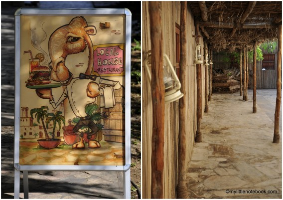 restaurant that serves camel meet in bastakiya