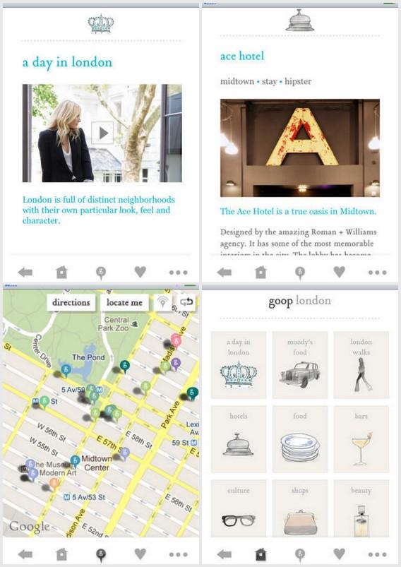 goop city guides app by gwyneth paltrow