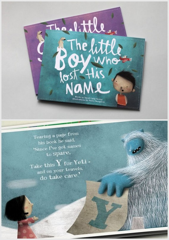 Personalised book for kids with the letters of their name