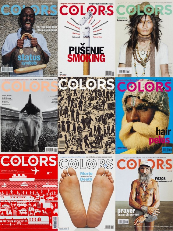 Colors magazine to show the world to the world