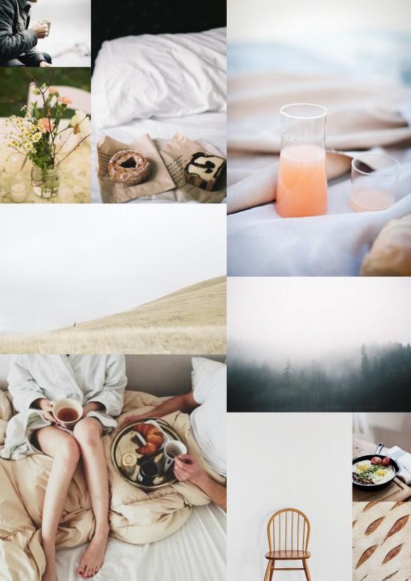 inspirational board breakfast in bed