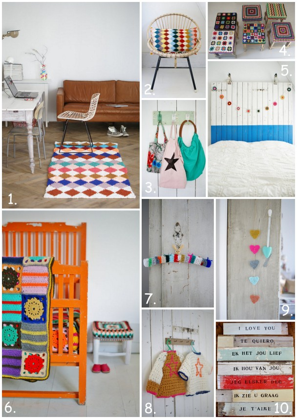 colorful homes, cool crochet, accessories for home