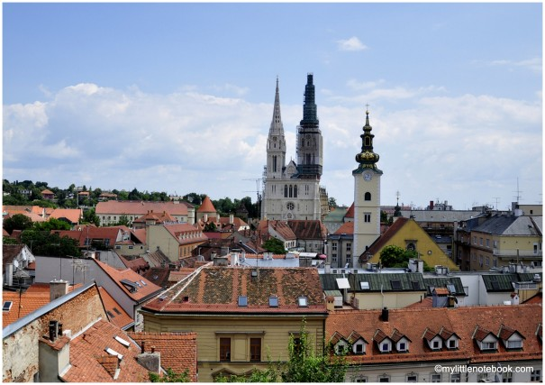 view over Zagreb and cathedral in spring