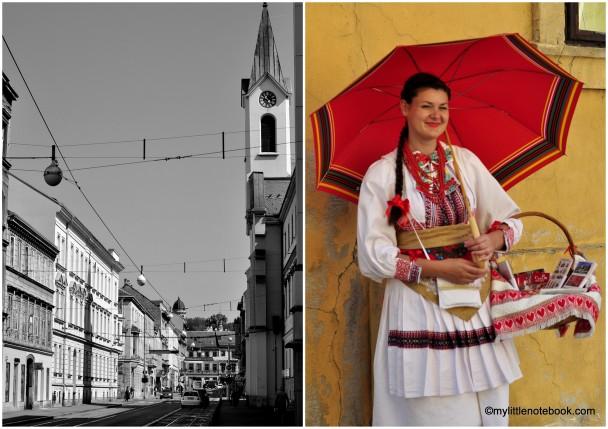 croatian women in national costume