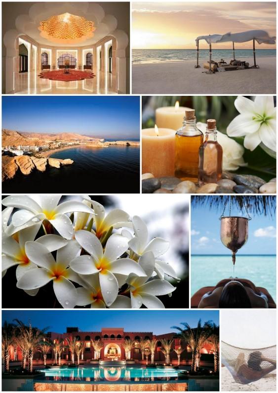 inspirational board for luxury retreat