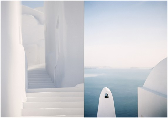 hues of santorini white and blue