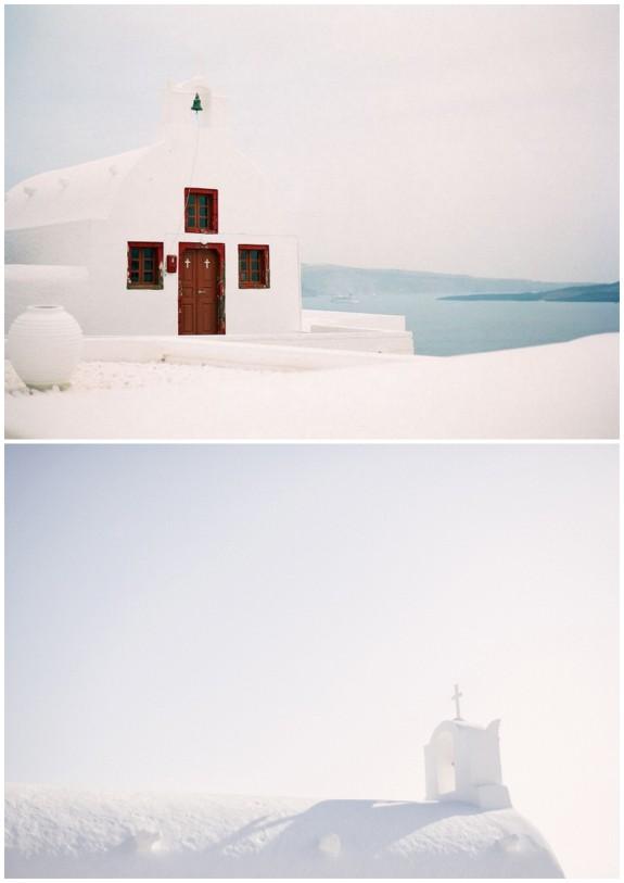 greek church on santorini island