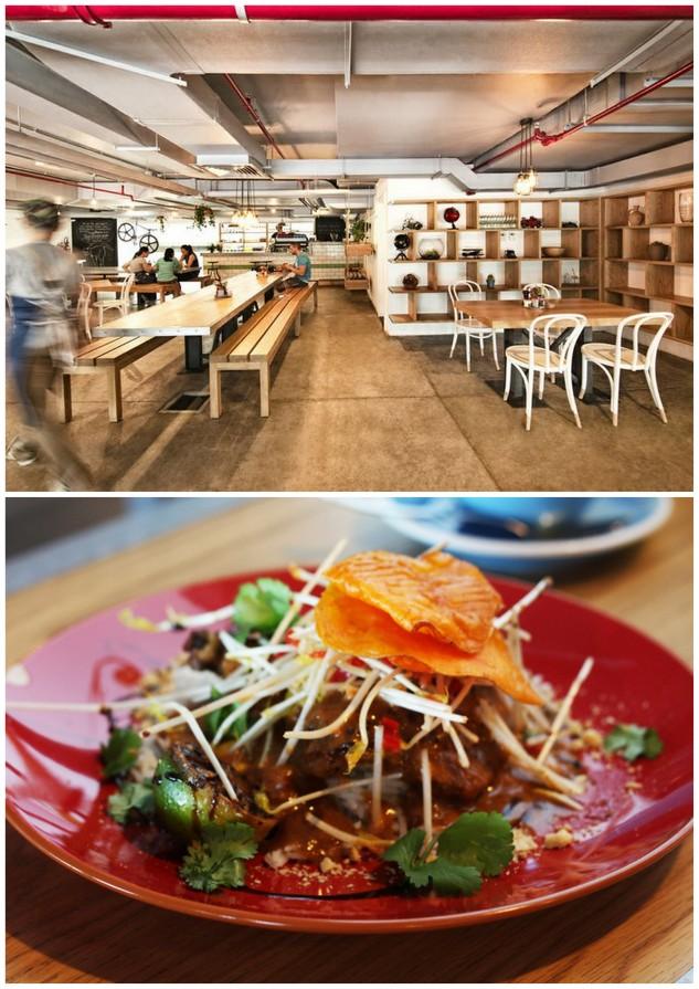 restaurant interior of tom and serg in dubai