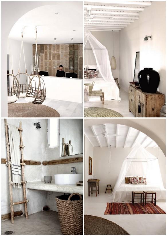 Bohemian boutique hotel on Mykonos island in Greece