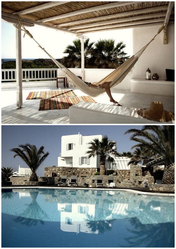 Bohemian luxury on a greek island