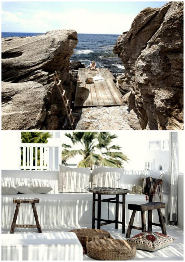 Bohemian luxury on Mykonos island