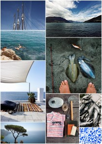 deep blue Adriatic sea collage