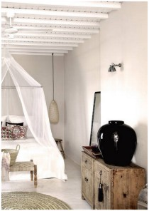 Beohemian design hotel on Mykonos island in Greece