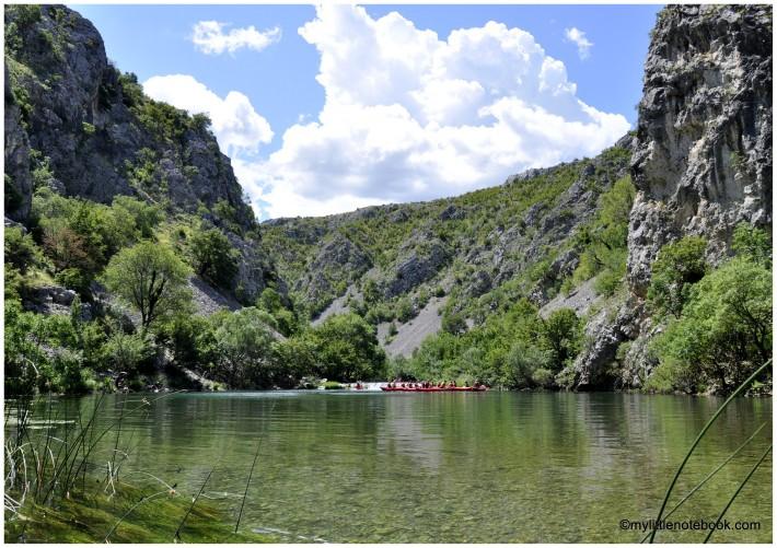 zrmanja canyon in croatia