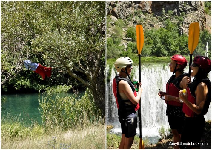 kayaking in croatia on river zrmanja