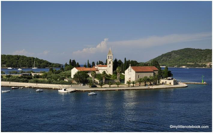 church on Vis island near the sea