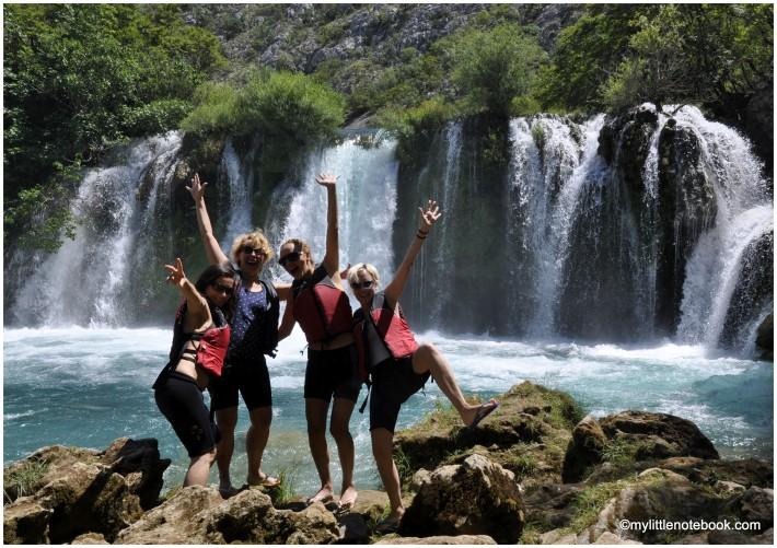 zrmanja waterfall as a photo background