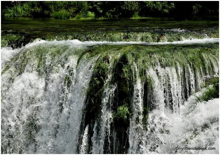 waterfall of zrmanja river in croatia
