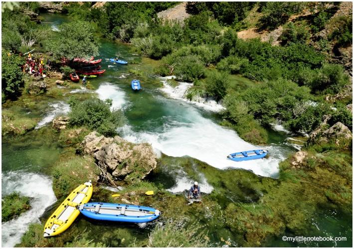 kayak safari on river zrmanja in croatia