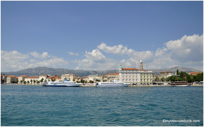 view from the port in Split, Croatia
