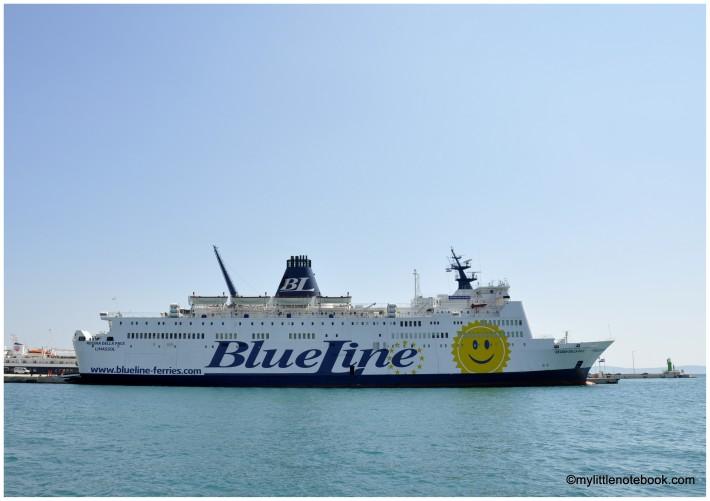 Blue Line ferry waiting in Split port