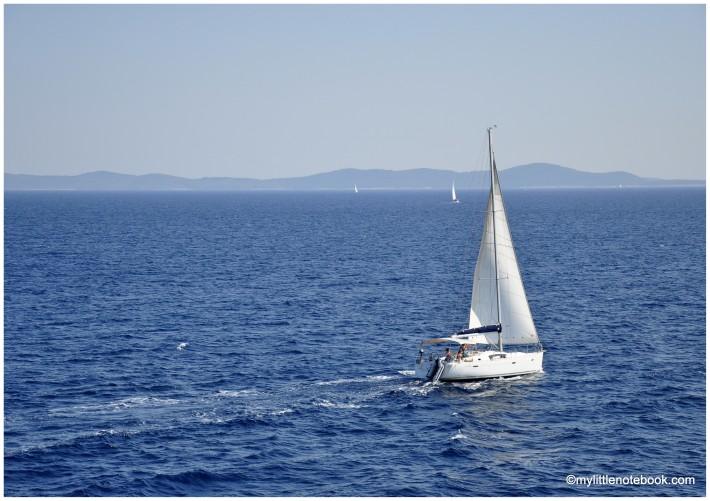 Adriatic sea and beautiful sailboat