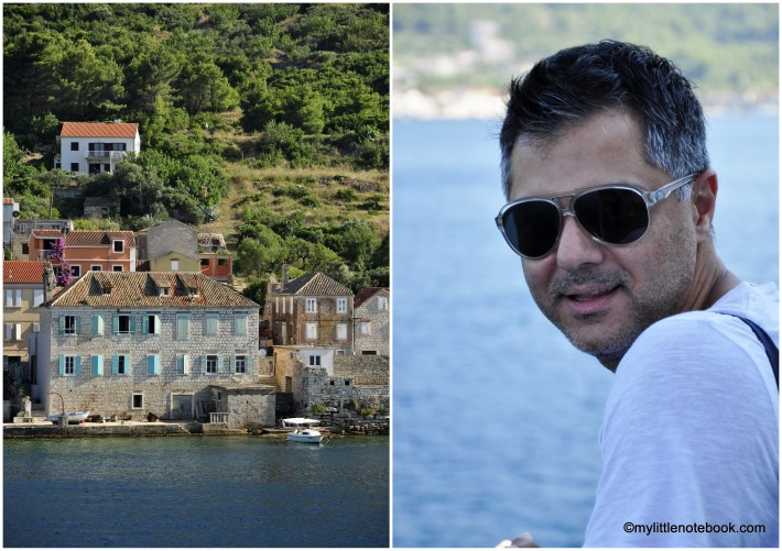 a man going to Vis island in Croatia