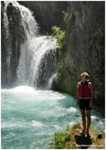 zrmanja river and waterfalls in croatia