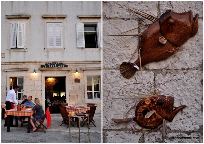 old stone house turned into restaurant in Vis, Croatia